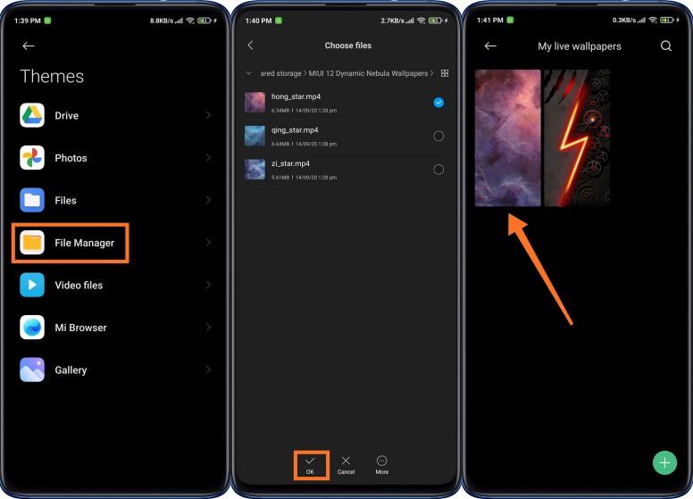 Cài đặt Dynamic Nebula Wallpaper trên điện thoại Xiaomi